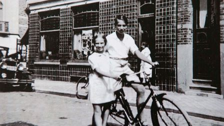 Eva Schloss 82yr old Holocaust survivor & Anne Frank's step-sister,Eva pictured in Amsterdam with h