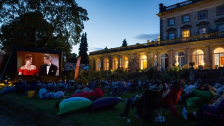 Cowley Manor outdoor cinema