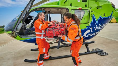 Air ambulance charity has busiest week on record