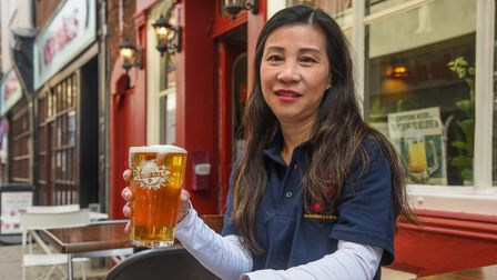 Aey Allen, owner of The Vine on Dove Street in Norwich which is re-opening after her outside licence