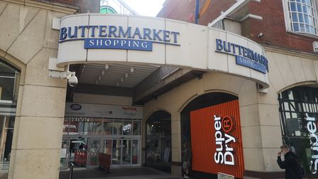 The current entrance to the Buttermarket Shopping Centre in Ipswich
