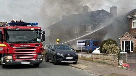 Firefighters were called to Foxburrow Road in Sprowston on Wednesday afternoon
