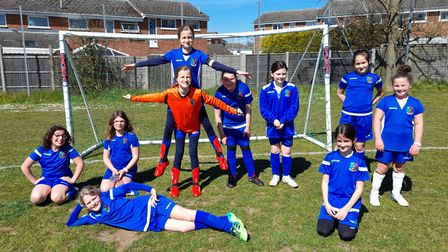 Saffron Walden PSG FC U10 Girls Blues squad