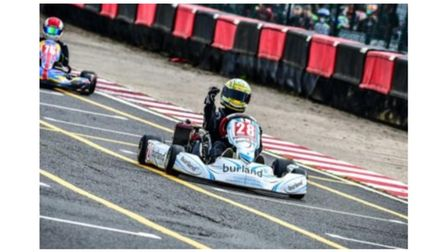 Josh Vallance, a racing kart driver from Dereham, has been awarded Ron Harrod Foundation funding.