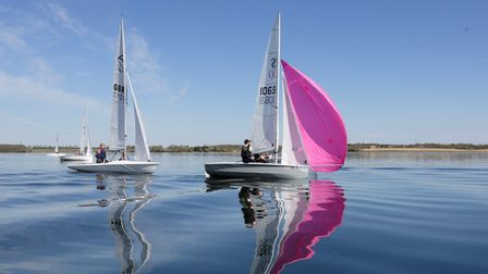 Light winds ruled in week three of the Grafham Water Sailing Club Restart Series