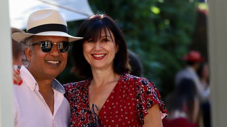 Arif and his wife Kathryn in the summer of 2019