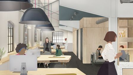 A CGI of the offices at The Talent House