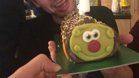 Clyde Caterpillar cake by Asda