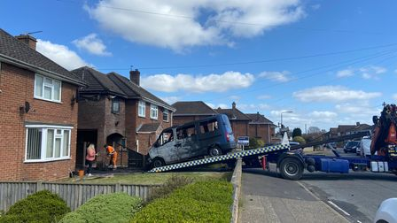 The van was recovered on Wednesday afternoon.