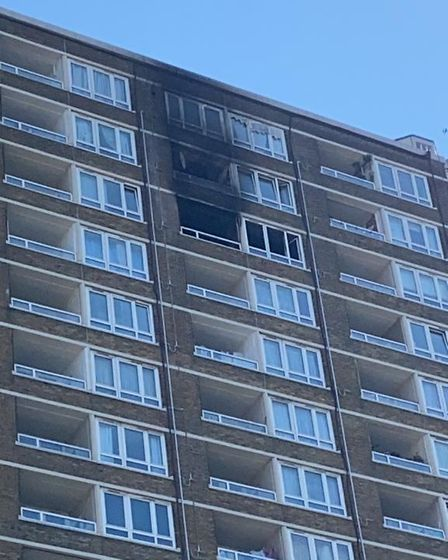 Jodie Meloche McQuade's 17th floor flat in Godfrey House, Bath Street on the St Luke's estate was gutted by fire