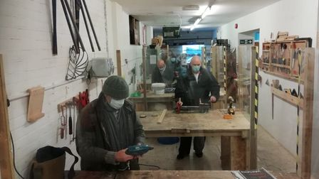 Members of the Norwich Men's Shed
