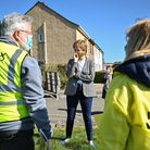 First Minister Nicola Sturgeon speaks to Scottish National Party (SNP) volunteers in Dumbarton, West