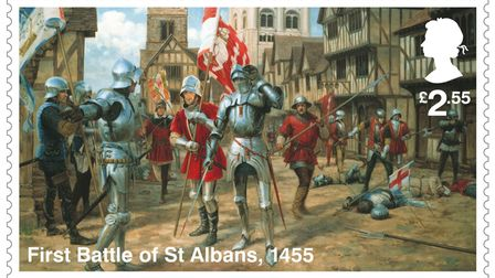 The First Battle of St Albans is on a new stamp.