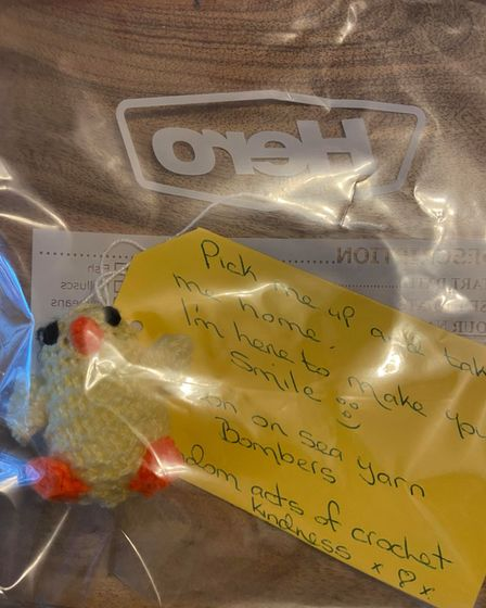 Random acts of crochet kindness in Hopton