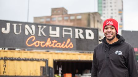 Founder of the Junkyard Market Michael Femi-Ola. Picture: Sarah Lucy Brown