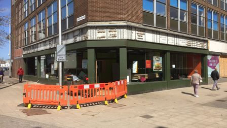 Signs removed from the former McDonald's restaurant in London Road North, Lowestoft.