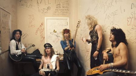 Izzy Stradlin, Axl Rose, Duff McKagan, Steven Adler and Slash of Guns n' Roses