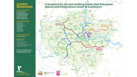 The Ramblers' London Greenways map