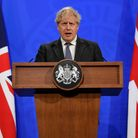 Prime Minister Boris Johnson during a media briefing in Downing Street, London, on COVID-19.