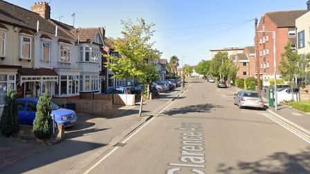 A man was rushed to hospital and the ground floor of a house was damaged in a fire in Gants Hill.