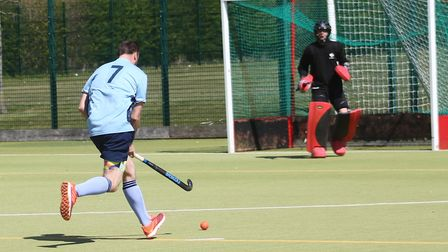 Ben Seaber on his way to scoring