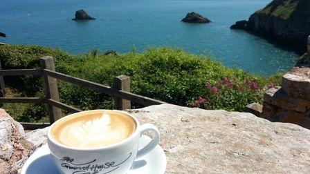 Refreshments at The Guardhouse, Berry Head.