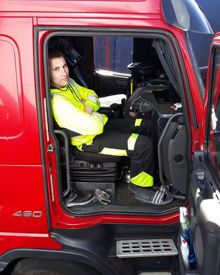 Paulius Povilauskas who saved a man from being crushed at the Port of Felixstowe