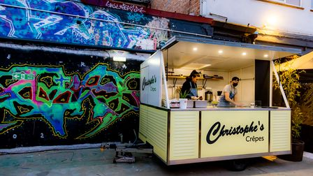 Norwich-based Christophe's Crêpes is one of the vendors at Junkyard Market.