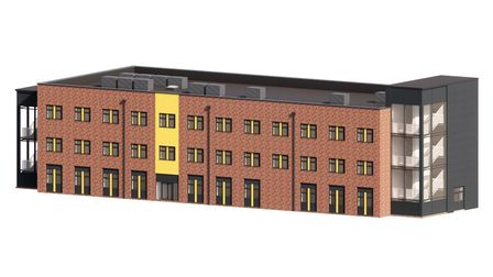 A 3D artist's impression of the new block at Ormiston Victory Academy on Middleton Crescent, Costess