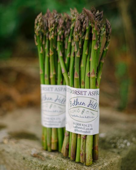 Asparagus grown by Anita and Mark DeGreeff of Bothen Hill, Bridport