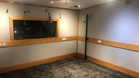The old Radio Broadland studios prior to being refitted byUEA.