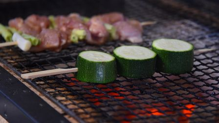 The Japanese barbecue, newly launched at Ciscoe's sushi restaurant. Picture: DENISE BRADLEY