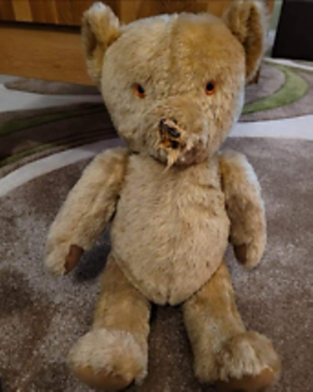 Ted had lost his nose!
