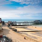 A view of the pier in Cromer, a seaside town in Norfolk, England