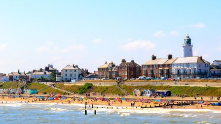 A view of Southwold beach in Suffolk