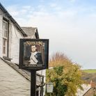 A picture of the sign of The Napoleon Inn in Boscastle, Cornwall