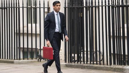 Chancellor of the Exchequer, Rishi Sunak outside 11 Downing Street, London