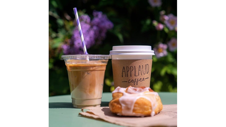 Applaud's outdoor seating area is the perfect spot to enjoy a coffee and a cake this spring
