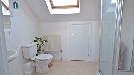 The bathroom is fitted to a high standard