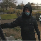 Police have released this CCTV image after windows were smashed at a bowls club in Hitchin