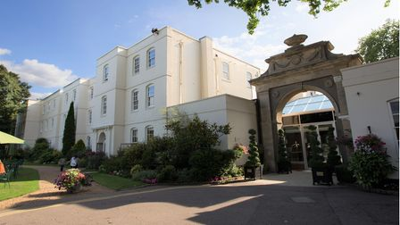 Front of Sopwell House Hotel in St Albans, Hertfordshire