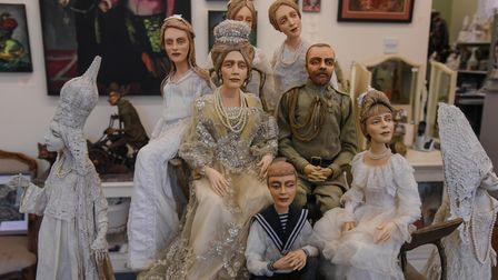 Tsar Nicholas II and his family sculptures. Picture: Danielle Booden
