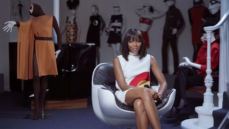 Naomi Campbell in astill from Pierre Cardin documentary House of Cardin
