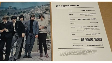 Stones programme from an Exeter concert