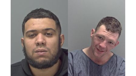Dwayne Farrell (left) and Peter Davidson-White were jailed at Ipswich Crown Court