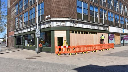 Windows were being boarded up at the former McDonald's restaurant in Lowestoft town centre on Friday, April 23.