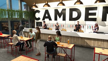What the inside of Camden Town Brewery's new Camden Beer Hall will look like