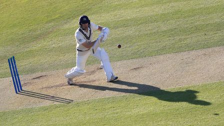 Robbie White in batting action for Middlesex against Surrey at Lord's