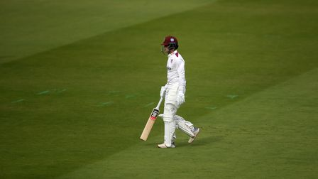 Somerset captainTom Abell top scored in their first innings against Leicestershire