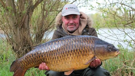 Martyn Lowe with a 36lb Common Carp